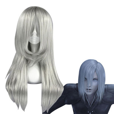 Final Fantasy Kadaj Silvery gray Cosplay Wig