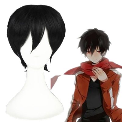 Kagerou project Kisaragi Shintaro Black Cosplay Wig