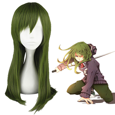 Pelucas Kagerou project Kido Tsubomi Verde Oscuro Cosplay