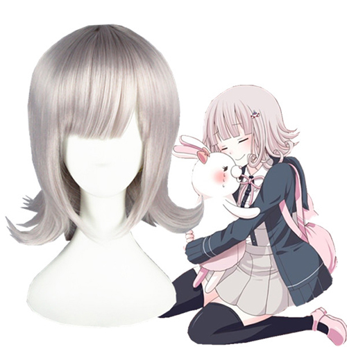Danganronpa 2: Goodbye Despair Nanami ChiaKi Pink Cosplay Wig