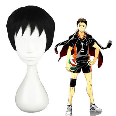 Haikyū!! Sawamura daichi Black Cosplay Wig
