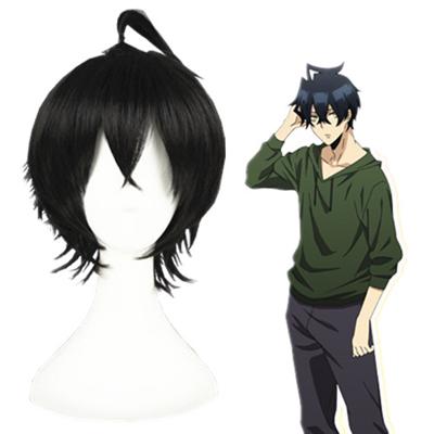 Orenchi no Furo Jijou Tatsumi Black Cosplay Wig