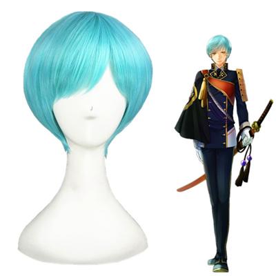 Touken Ranbu Online Ichigo Hitofuri Aqua Blue Cosplay Wig