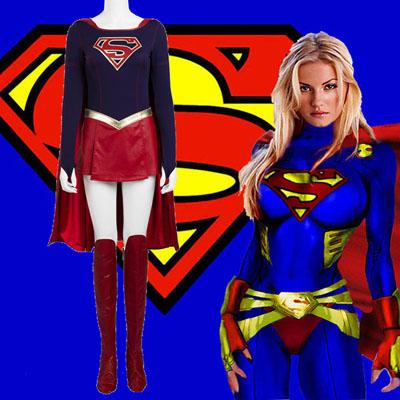 Supergirl Kara Zor-el Danvers Cosplay Zentai Suit Costumes