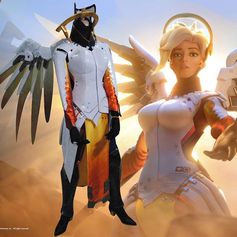 Deluxe Overwatch Mercy Cosplay Game Costumes Full Set