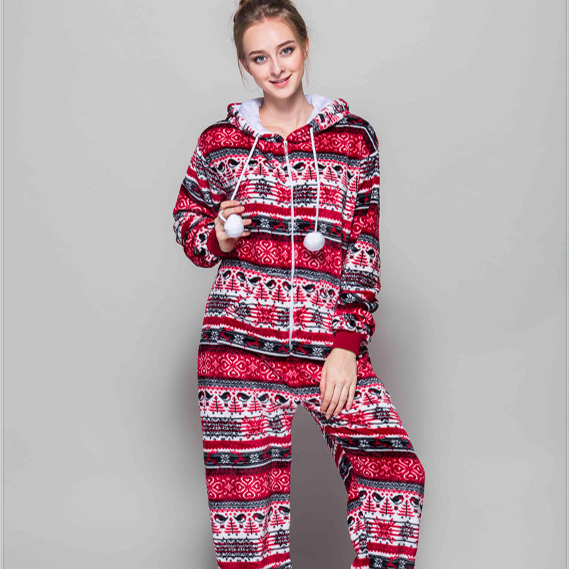 Adult Pajamas Animal Red Bird Flannel Kigurumi Pajamas