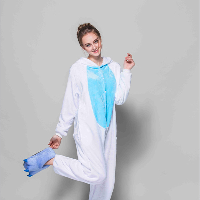 Adult Pajamas Animal Rabbit Flannel Kigurumi Pajamas
