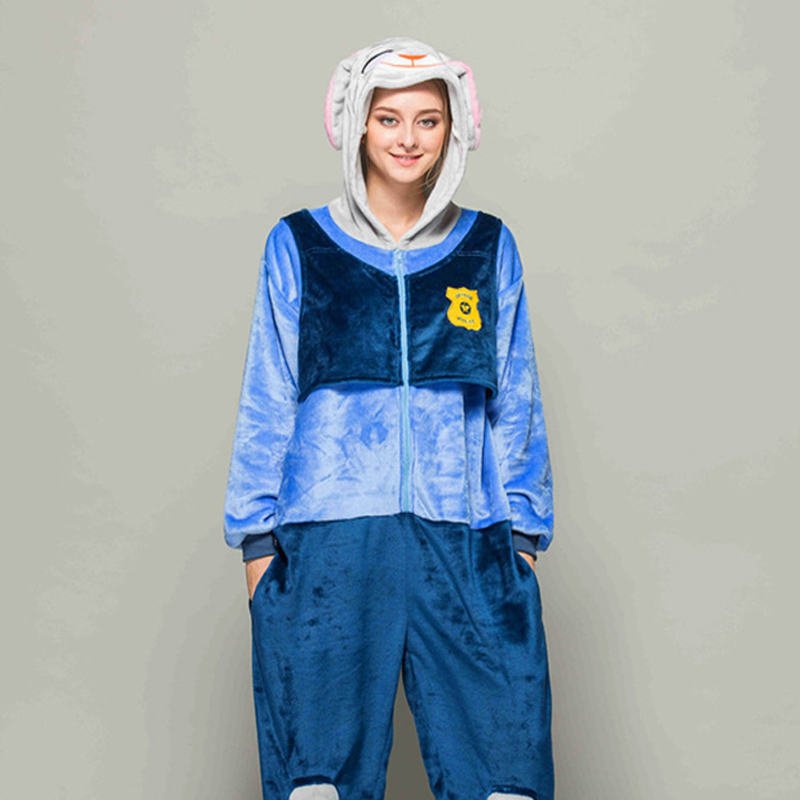 Adult Pajamas Animal Zootopia Judy Flannel Kigurumi Pajamas