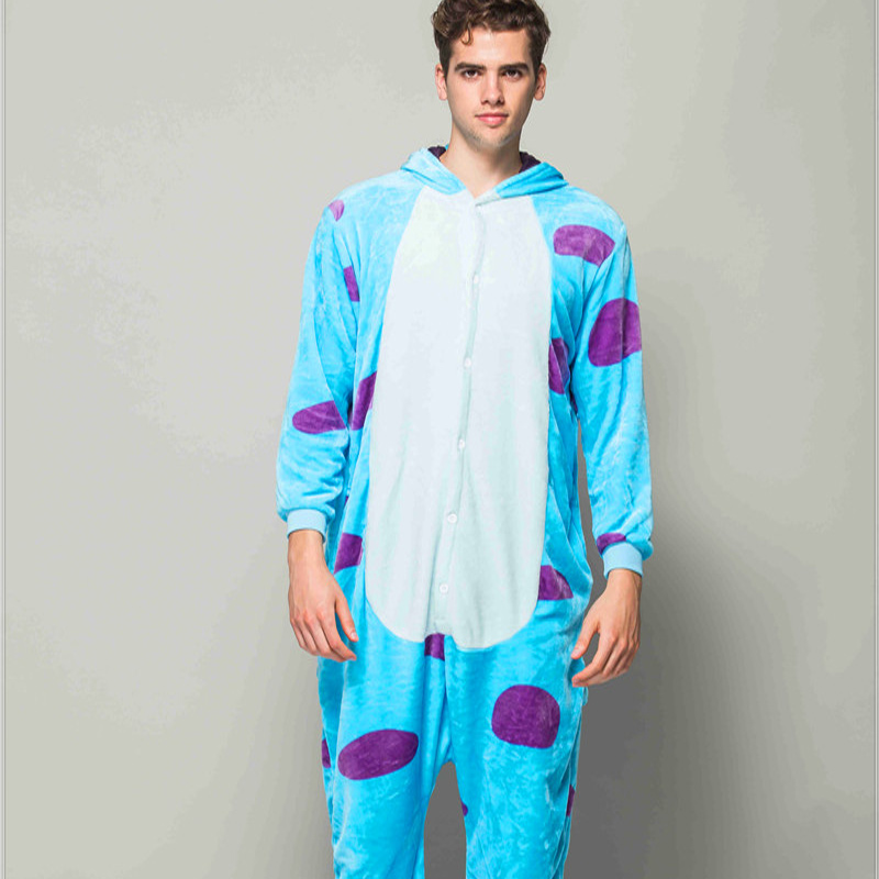 Adult Animal Pajamas Sullivan Flannel Kigurumi Pajamas