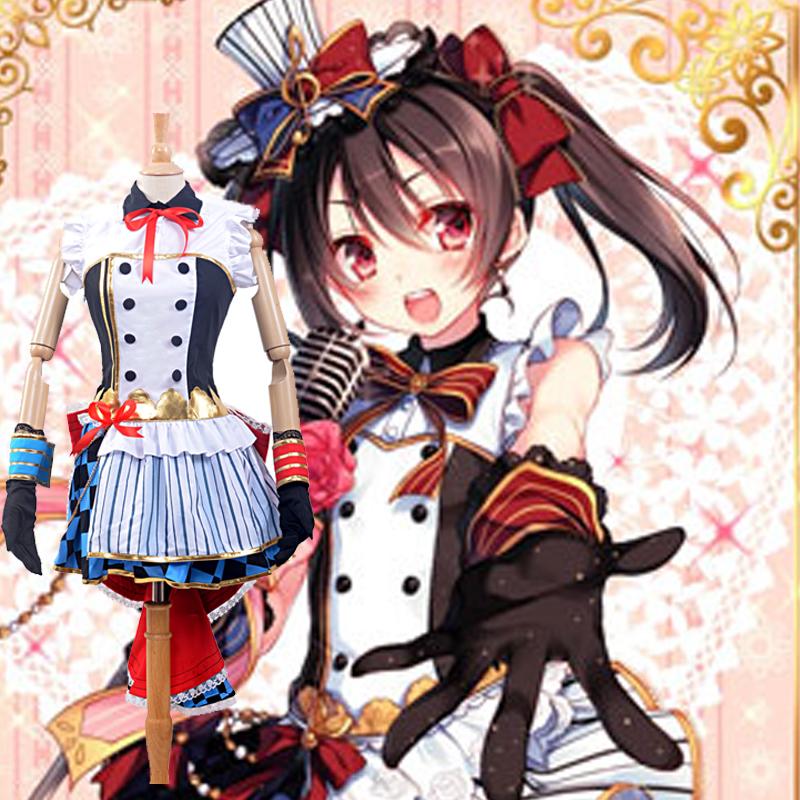 LoveLive! Nico Yazawa Maid Cosplay Costumes