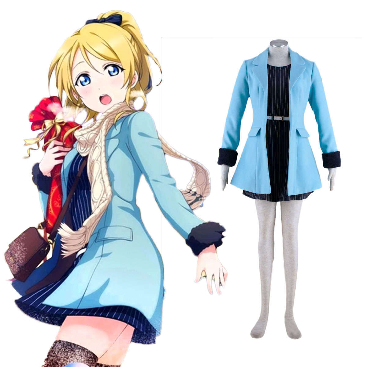 Deluxe Love Live! School idol project Ellie 2 Cotumes Cosplay