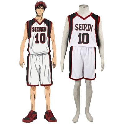 De lujo Disfraces de Kuroko no Basket Kagami Taiga1ST Seirin Blanco No.10 Cosplay