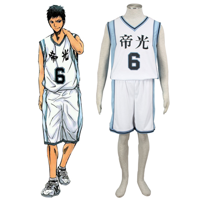 Deluxe Kuroko no Basket Aomine Daiki2ND Light White No.6 Cosplay Costumes