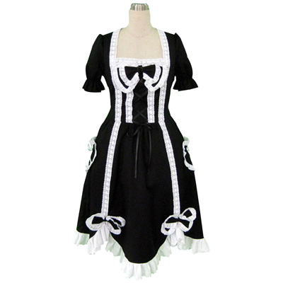 Deluxe Lolita Culture Short Sleeves Long Dresses 2ND Cosplay Costumes