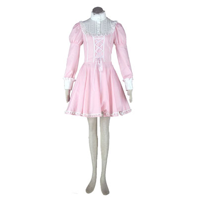 Deluxe Lolita Culture Pink Bustle Short Dresses Cosplay Costumes