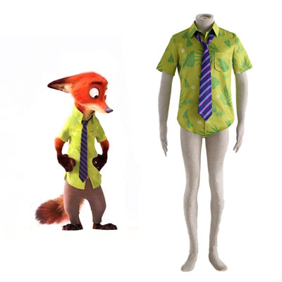 Zootopia Nick Shirt Cosplay Costumes Deluxe Edition