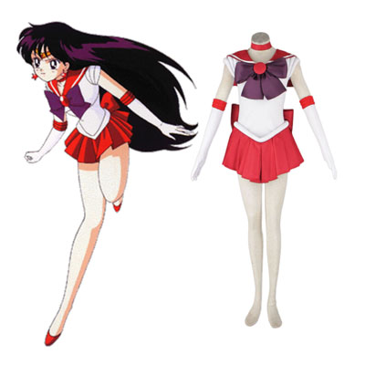 Sailor Moon Hino Rei 1ST Cosplay Costumes Deluxe Edition