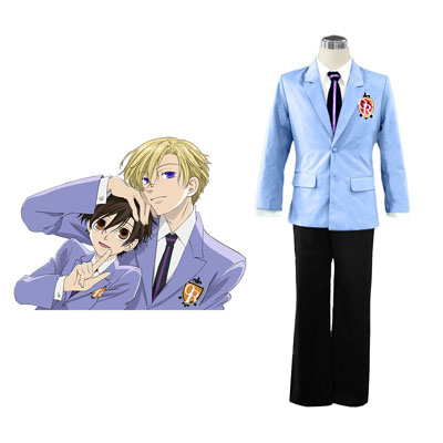Ouran High School Host Club Male Uniforms Blue Cosplay Costumes Deluxe Edition