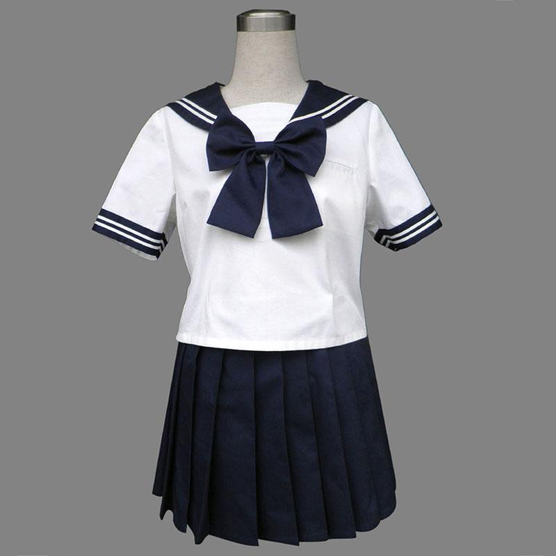 Royal Blue Short Sleeves Sailor Uniform 8TH Cosplay Costumes