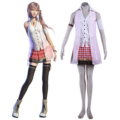 Final Fantasy XIII Serah Farron 1ST Cosplay Costumes