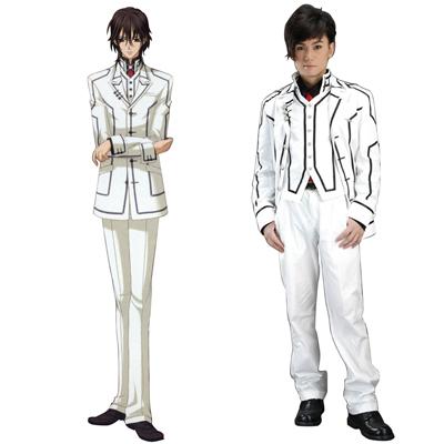Vampire Knight Night Class Biela Male školské uniformy Cosplay Kostýmy