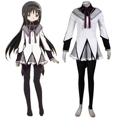 Puella Magi Madoka Magica Akemi Homura 1ST Cosplay Costumes