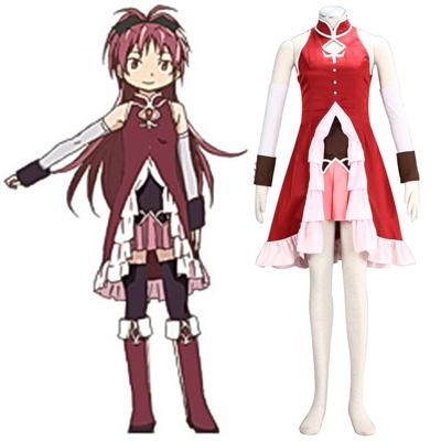 Puella Magi Madoka Magica Sakura Kyouko 1 Cosplay Kostýmy