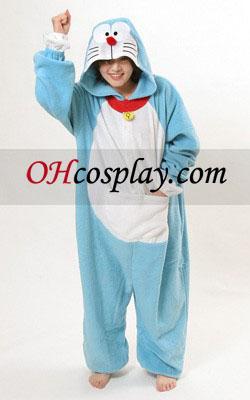 Doraemon Kigurumi kostyme pyjamas