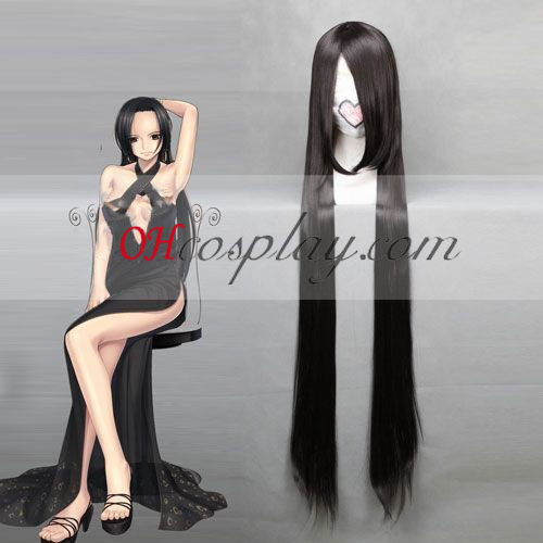 One Piece Boa Hancock Black Cosplay Wig