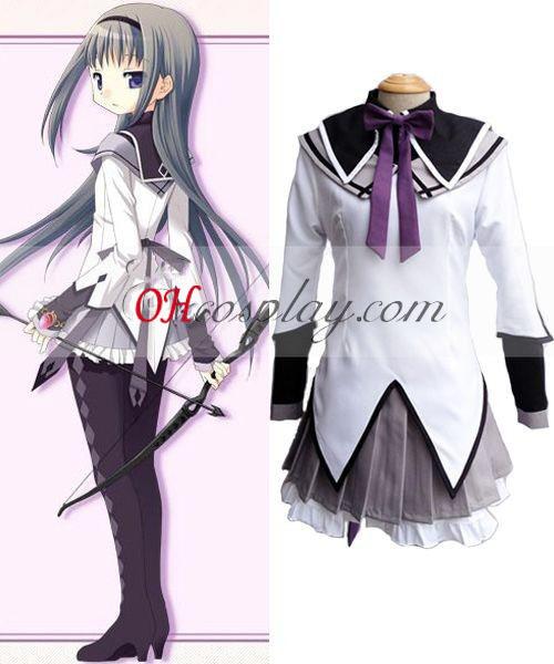 Puella Magi Madoka Magica Akemi Homura Cosplay Costume