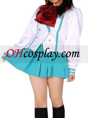 Svetlo modrá krátke rukávy školskú uniformu kroj Cosplay