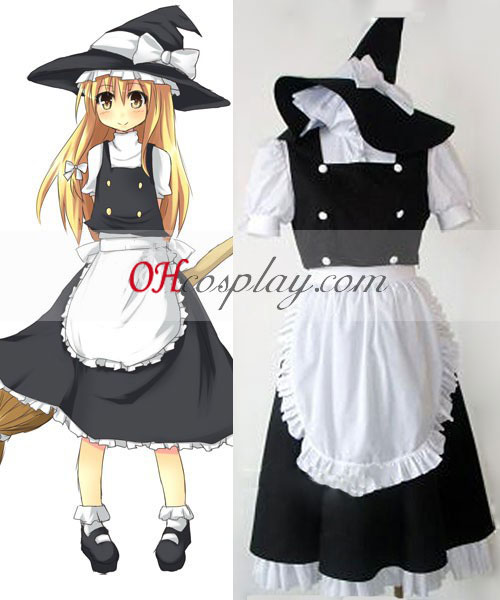 Touhou Project Kirisame Marisa traje de cosplay
