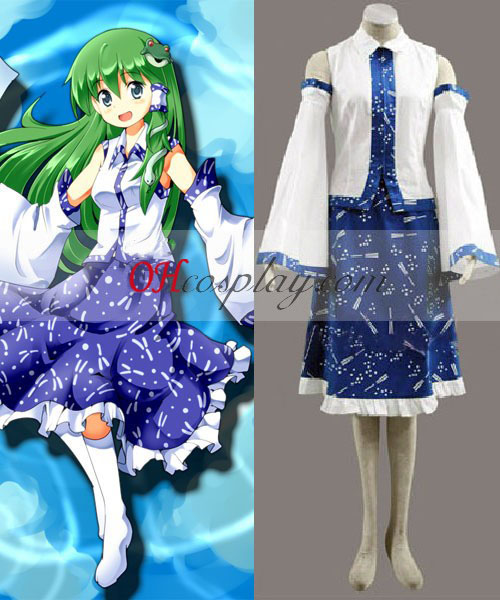 Touhou Project Kochiya Sanae traje de cosplay