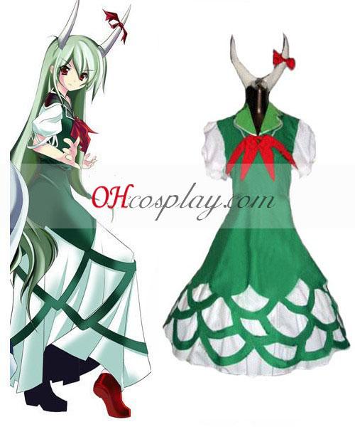 Touhou Project Kamishirasawa Keine Half beast version cosplay costume