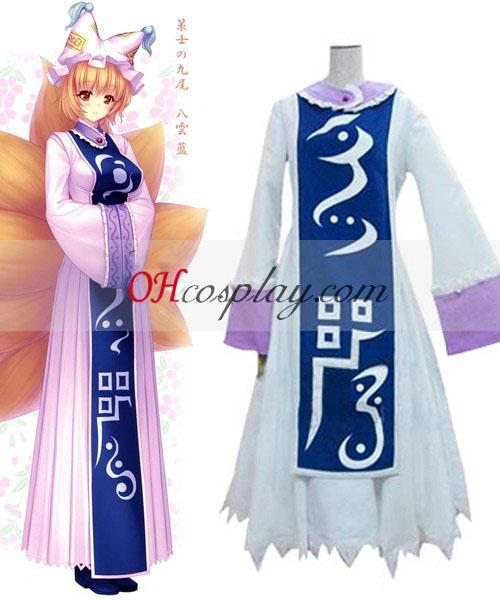 Touhou Prosjekt Kyuubi Kitsune Yakumo kjørte Cosplay kostyme