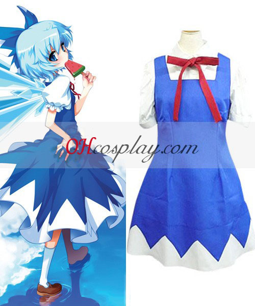 Touhou Project Ice Fairy Cirno Cosplay Costume