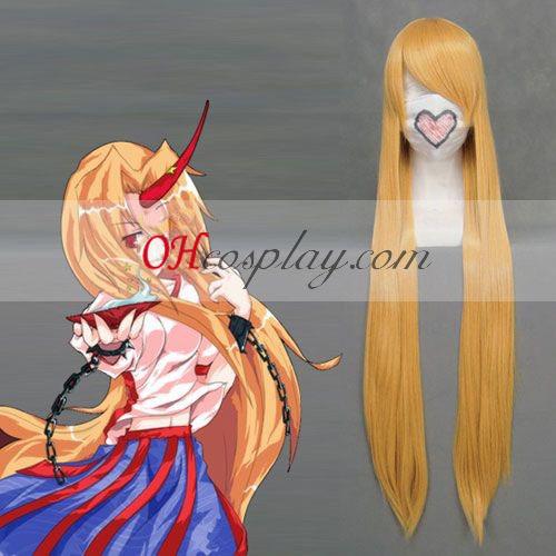Touhou Project Hoshiguma Yugi amarillo cosplay peluca
