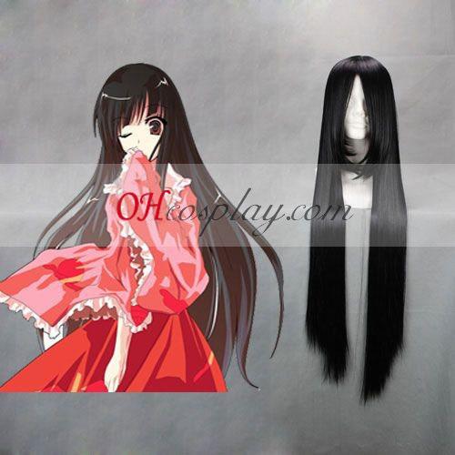 Touhou Project Reiuji Utsuho Negro cosplay peluca