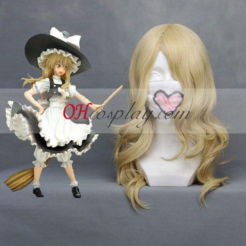 Touhou Project Marisa Luz amarilla cosplay peluca