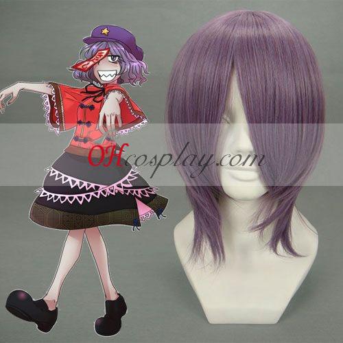 Touhou Project Miyako yoshika púrpura peluca Cosplay