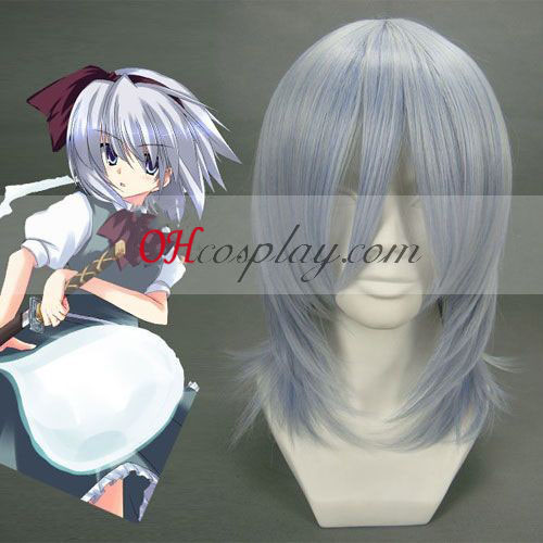 Touhou Project Youmu Konpaku plateado peluca blanca cosplay