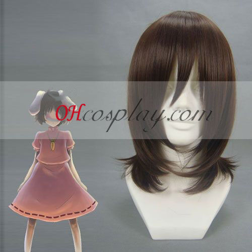 Touhou Project Inaba Tewi Brown peluca cosplay