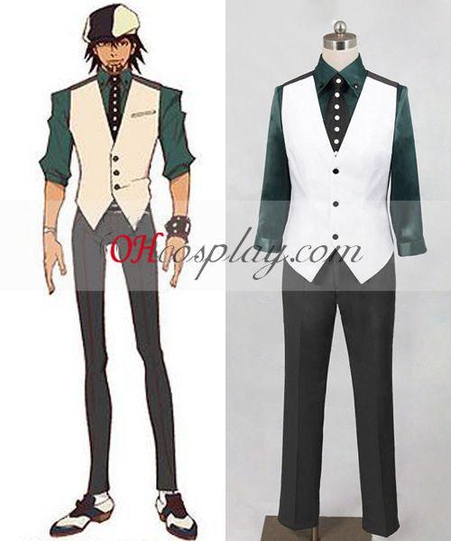 Tiger & Bunny Kotetsu T. Kaburagi (Wild Tiger) Cosplay kostyme