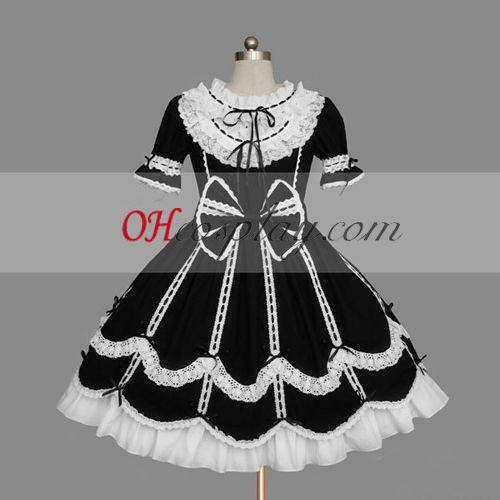 Negro-Blanco Gothic Lolita vestido