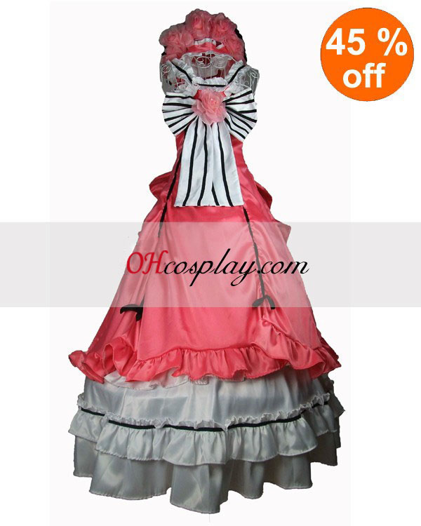 Pink Sleevless Gothic Lolita vestido Algodón
