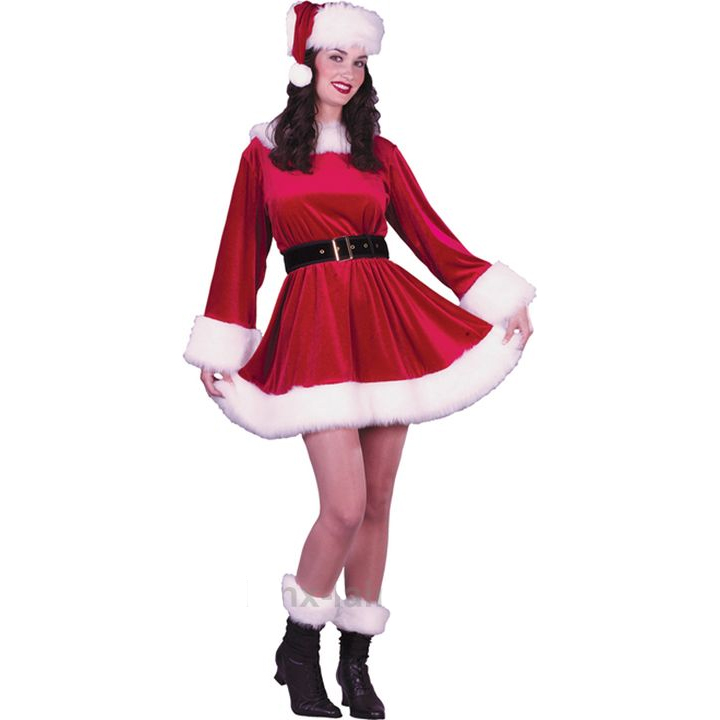 Christams Red cosplay vestido