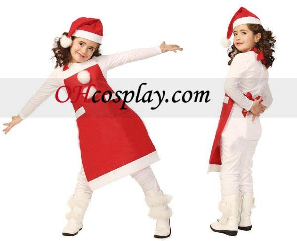 Barn Jul forkle og hette nåde Cosplay kostyme