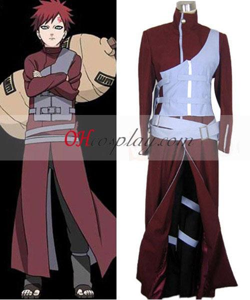 Naruto Shippuuden Kazekage Gaara blå rustning Cosplay kostyme