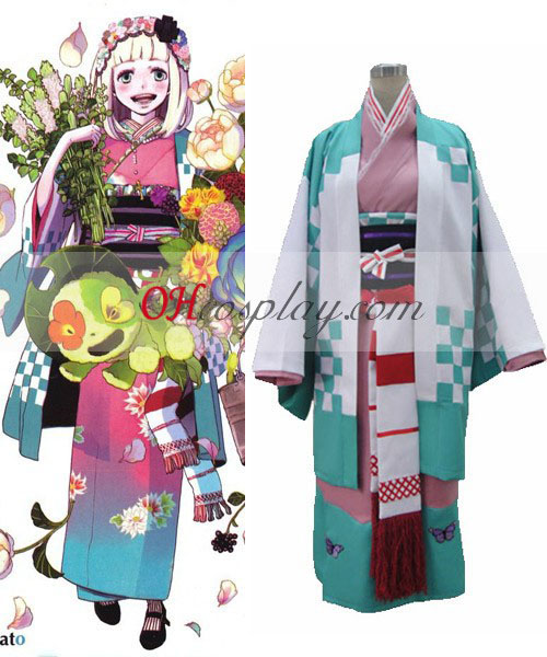 Ao no Exorcist Moriyama Shiemi Kimono Cosplay Costume