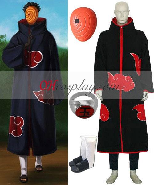 Naruto Akatsuki Tobi Madara Uchiha Deluxe Cosplay Traje Set
